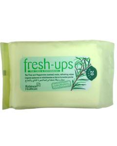 Fresh-Ups Μαντηλάκια Καθαρισμού Με Tea Tree & Μέντα 20τμχ