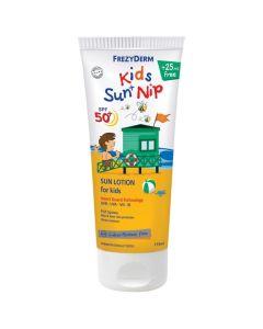 Frezyderm Kids Sun & Nip Παιδικό Αντιηλιακό Γαλάκτωμα για Παιδιά & Προστασία από Έντομα Παραλίας Spf50+ 175ml