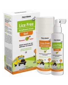 Frezyderm Πακέτο Promo Set Lice Free Σετ Αντιφθειρική Αγωγή Σαμπουάν & Λοσιόν 2x125ml