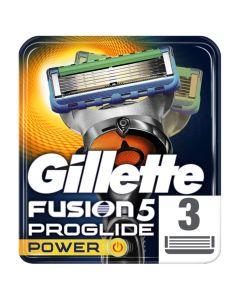 Gillette Fusion Proglide 5 Power Ανταλλακτικές Κεφαλές Ξυριστικής Μηχανής 3Τμχ