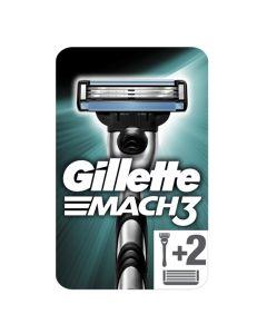 Gillette Mach 3 Ξυριστική Μηχανή & 2 Ανταλλακτικά