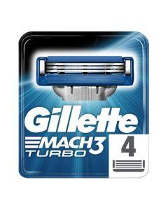 Gillette Mach3 Turbo Ανταλλακτικά Ξυραφάκια 4τμχ