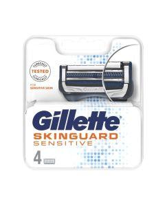 Gillette Skinguard Sensitive Ανταλλακτικά Ξυριστικής Μηχανής 4τμχ