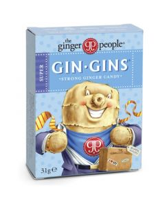 Gin Gins Boost Ginger Candy Παστίλιες Για Ναυτία Δυσπεψία & Πονόλαιμο 31gr