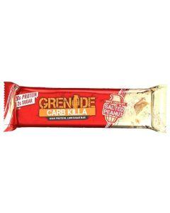 Grenade Carb Killa White  Chocolate Salted  Peanut Μπάρα Υψηλής Πρωτεΐνης Λεύκη Σοκολάτα- Αλατισμένα Φιστίκια 60gr