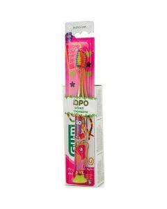 Gum 903 Light-Up Πακέτο Promo Set Παιδική Οδοντόβουρτσα Πράσινη & Δώρο Οδοντόκρεμα Gum Kids Με Γεύση Φράουλα 2-6 Ετών 50ml