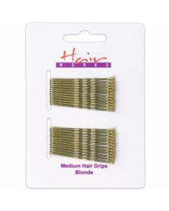 Hair Works Τσιμπιδάκια Μαλλιών Χρυσά 24Τμχ