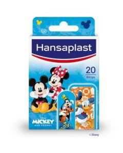 Hansaplast Junior Disney Mickey & Friends Strips Παιδικά Επιθέματα Προστασίας Πληγών 20 Τμχ
