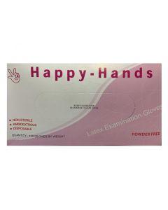 Happy Hands Γάντια Latex Χωρίς Πούδρα Large 100 Τμχ