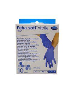 Hartmann Peha Soft Nitrile Fino Νιτριλίου Powder Free Μπλε Large 10τμχ