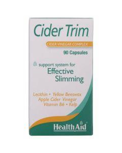 Health Aid Cider Trim™ Συμπλήρωμα Αδυνατίσματος Με Μηλόξυδο 90 Κάψουλες