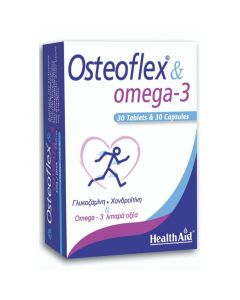 Health Aid Osteoflex & Omega-3 Φόρμουλα με Ωμέγα-3 Λιπαρά Οξέα , Γλυκοζαμίνη & Χονδροϊτίνη 30 Ταμπλέτες & 30 Κάψουλες