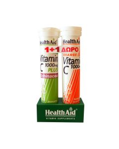 Health Aid Vitamin C 1000Mg Plus Echinacea 20 Tabs & Δώρο Vitamin C 1000Mg Orange 20 Tabs