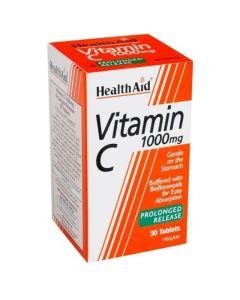 Health Aid Vitamin C 1000mg Prolonged Release 30 Ταμπλέτες - Βιταμίνη C Βραδείας Αποδέσμευσης