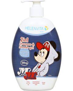 Helenvita Kids Mickey 2 Σε 1 Παιδικο Σαμπουαν & Αφρολουτρο 500ml