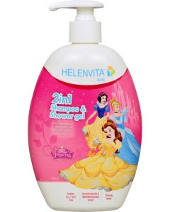 Helenvita Kids Princess 2 Σε 1 Παιδικό Σαμπουάν & Αφρόλουτρο 500ml