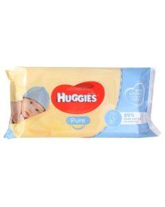 Huggies Pure Μωρομάντηλα 56τμχ