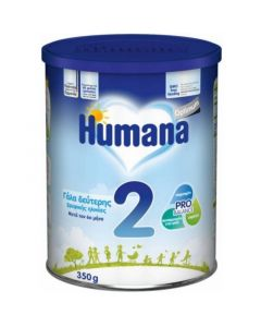 Humana Optimum 2 Γάλα 2ης Βρεφικής Ηλικίας Μετά Τον 6ο Μήνα 350Gr
