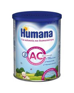 Humana Ac Βρεφικό Γάλα 0M+ Για Κολικούς και Δυσκοιλιότητα 350Gr