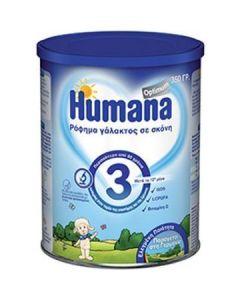 Humana Optimum 3 Μετά Τον 12ο Μήνα Έως και Την Νηπιακή Ηλικία Γάλα Σε Σκόνη 350Gr