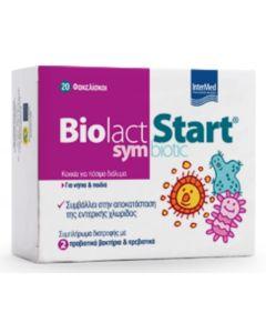 Intermed Biolact Start Symbiotic Προβιοτικά για την Αποκατάσταση της Εντερικής Χλωρίδας για Νήπια & Παιδιά 20 Φακελίσκοι