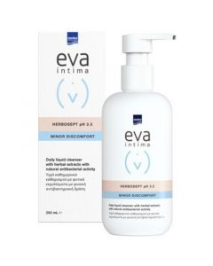 Intermed Eva Intima Minor Discomfort Herbosept pH3.5 Καθαριστικό της Ευαίσθητης Περιοχής με Αντιβακτηριδιακή Προστασία 250ml