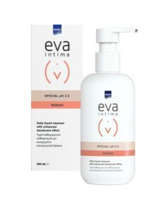Intermed Eva Intima Period Special pH3.5 Καθαριστικό της Ευαίσθητης Περιοχής για Πλύση Κατά τη Διάρκεια της Έμμηνης Ρύσης 250ml