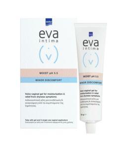 Intermed Eva Intima Moist pH 5.5 Minor Discomfort Αιδιοκολπική Γέλη 9 Κολπικοί Εφαρμοστές