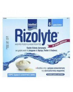 Intermed Rizolyte Σκεύασμα για Πρόληψη & Αποκατάσταση Αφυδάτωσης Με Άλευρο Ρυζιού & Ηλεκτρολύτες 6 Φακελίσκοι