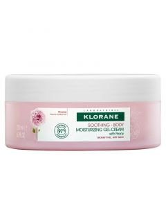 Klorane Peony Soothing Body Moisturizing Gel-Cream Ενυδατική Κρέμα Σώματος 200ml