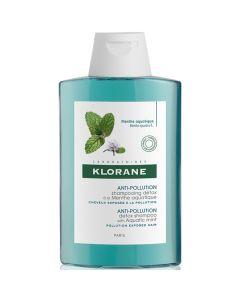Klorane Anti-Pollution Shampoo Σαμπουάν Αποτοξίνωσης Με Υδάτινη Μέντα 200ml