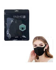 Fashion Mask Μάσκα Πολλαπλών Χρήσεων Σε Μαύρο Χρώμα 1Τμχ