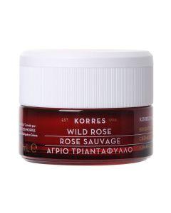 Korres Άγριο Τριαντάφυλλο Κρέμα Ημέρας Για Λάμψη &  Πρώτες Ρυτίδες Για Κανονικές - Μικτές Επιδερμίδες 40ml