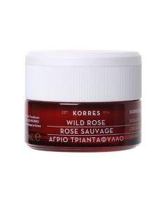 Korres Brightening & First Wrinkles Day Cream Wild Rose Κρέμα Ημέρας Άγριο Τριαντάφυλλο Λάμψη & Πρώτες Ρυτίδες Για Ξηρές Επιδερμίδες 40ml