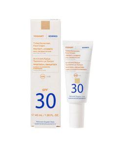Korres Yogurt Tinted Sunscreen Face Cream Αντηλιακή Κρέμα Με Χρώμα Για Προστασία & Ενυδάτωση SPF30 40ml