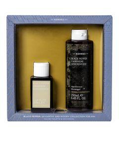 Korres Ανδρικό Promo Black Pepper Cashmere Lemonwood Eau De Toilette 50ml & Αφρόλουτρο 250ml
