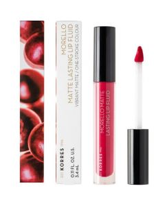 Korres Morello Matte Lasting Lip Fluid 27 Cranberry Sorbet 3,4ml