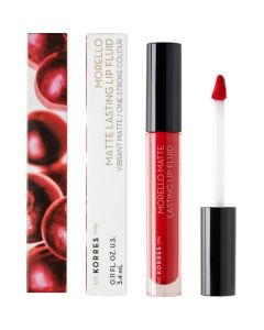 Korres Morello Matte Lasting Lip Fluid 52 Poppy Red 3,4ml