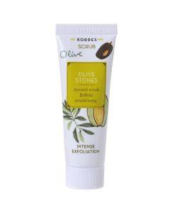 Korres Olive Stones Scrub Με Ελιά Για Βαθιά Απολέπιση 18ml