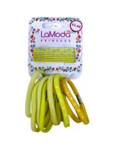LaModa Λαστιχάκια & Τσιμπιδάκια Μαλλιών Σε Κίτρινο Χρώμα 16τμχ