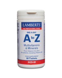 Lamberts A To Z Multivitamins & Minerals Συμπλήρωμα Διατροφής 8429-60 60 Tabs