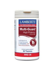 Lamberts Multi Guard High Potency Πολυβιταμινούχα Φόρμουλα Βιταμινών & Μετάλλων 8442-30 30Tabs
