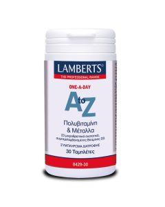 Lamberts Πολυβιταμίνη & Μέταλλα One A Day A to Z 30 Ταμπλέτες