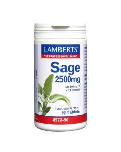 Lamberts Sage 2500mg Φασκόμηλο - Ενίσχυση Μνήμης, Μείωση Συμπτωμάτων Εμμηνόπαυσης 90tabs