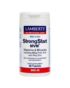 Lamberts StrongStart Mvm Συμπλήρωμα Διατροφής 8462 Για Πριν & Μετά Την Εγκυμοσύνη 60Tabs