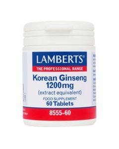 Lamberts Korean Ginseng Extract Equivalent 1200Mg Αντιμετώπιση Του Stress 8555 60Tabs