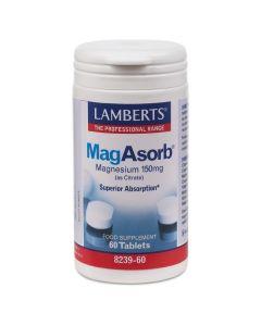 Lamberts MagAsorb Μαγνήσιο Υψηλής Απορρόφησης 60 Tablets