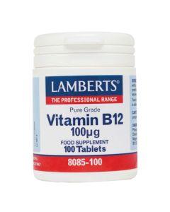 Lamberts Συμπλήρωμα Διατροφής Vitamin B12 100Mg Pure Grade 8085-100 100Tabs