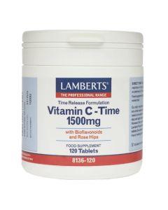 Lamberts Συμπλήρωμα Διατροφής Vitamin C - Time Release 1500mg 8136 120Tabs