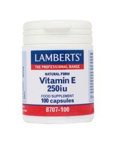 Lamberts Συμπλήρωμα Διατροφής Vitamin E 250Iu Natural Form 8707-100 100Caps